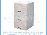 厂家直销 三层四层五层简约条纹抽屉储物柜简易塑料衣柜整理柜