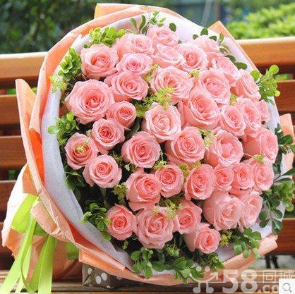 你最珍贵 33朵粉玫瑰花束