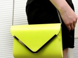 2014新款女包 时尚潮流多种颜色手拿包 PU单肩斜跨包 链条包