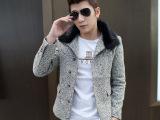 韩版休闲男士风衣外套 男装短款翻领外套 潮男加绒风衣外套