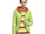 欧洲站 秋冬新款女装  欧美女式棉衣 时尚百搭薄款羽绒棉服外套