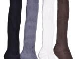 韩国进口秋冬堆堆袜韩国高筒袜复古纯棉袜长