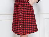 工厂直销2015女装秋冬新款毛呢半身裙秋 修身半截裙一件代发批发