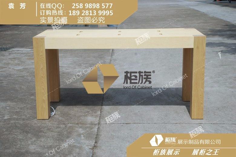 不锈钢拉丝脚架苹果中岛体验桌