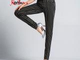 2014新款女裤高腰弹力小脚裤大码高端显瘦休闲裤子弹力提臀铅笔裤