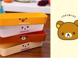 日式轻松熊抽屉收纳整理盒 厨房餐具收纳盒 卡通塑料储物盒批发