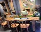 流水茶桌椅组合禅意循环养鱼景观假山茶台创意风水茶几新中式原木