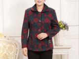 中老年女装春秋新款外套中年女士时尚妈妈秋装老人翻领夹克外套32