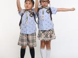 2014最新款幼儿园园服夏装 英伦园服 夏季幼儿园校服大量批发