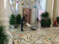 地板清洗、地板抛光打蜡、地板翻新打磨天明更专业