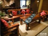老船木茶桌茶幾餐桌辦公桌椅子長凳沙發大吧臺收銀臺擺件墻背景博