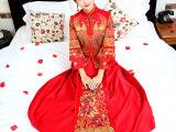 新娘秀禾服龙凤褂古装中式礼服嫁衣修身敬酒