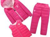 爆款儿童棉服三件套装中小童宝宝外穿保暖棉