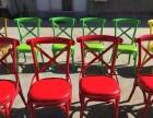 咖啡厅铁艺椅子 美式主题餐厅桌椅