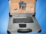 15寸上翻新款银白色军工电脑外壳铝工业便携机机箱加固笔记本