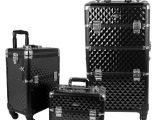 欧美时尚奢华定制多层大容量化妆包专业拉杆理发箱 2合1 一箱多用