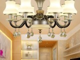 玉如意装饰吊灯 法式水晶吊灯 陶瓷吊灯