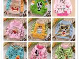 2015秋季新款童装批发  儿童卡通毛衣小孩肩扣线衣针织衫一件代