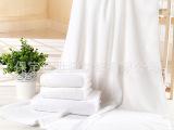 大浴巾纯棉白色4件套酒店白毛巾宾馆用加大加厚大浴巾高阳厂家批