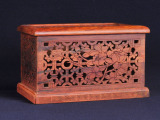 批发 木雕镂空纸巾盒 木制抽纸盒 木质工艺品摆件礼品价格优惠