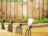 加厚不锈钢小锄头种菜养花工具农用锄耙园艺两用锄园林用品庭园锄