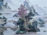 山水纹瓷板画通过渠道鉴定