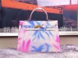 限量版凯丽同款包包牛皮彩色蛇纹手提女款包大容量手拎女士包现货
