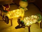 北欧实木创意火树银花玻璃夜灯