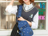 休闲运动女士斜挎胸包韩版腰包户外帆布潮手机小背包单肩骑行女包
