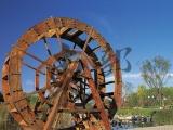 景区农家乐特色装饰品纯手工木质水轮车