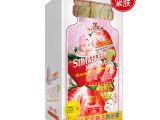 广州化妆品工厂批发代理OEM  依露美草莓牛奶红颜透白锁水面膜