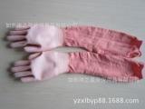 批发花园手套  劳保浸胶手套  13针长袖白PU涂层浸胶手套