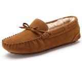 真皮毛一体休闲驾车舒适防滑耐磨橡胶平底按摩加绒保暖女士豆豆鞋