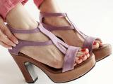 韩国代购正品女鞋2013夏新款欧美防水台露趾高跟鞋粗跟鞋凉鞋