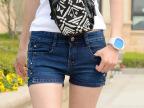 2015夏季新款牛仔短裤女夏韩版超显瘦弹力紧身大码女式牛仔裤潮