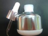 化妆品包装瓶 玻璃精油瓶 电镀 胶头滴管盖 厂家直销