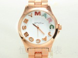 欧美MJ爆款时尚高档石英手表 镶钻 外贸热卖 合金套装表 品牌手表
