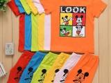 厂家直销外贸出口童装套装短袖7块 三个码 3-8岁