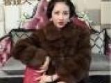 雪姬人 进口紫貂大衣皮草咖啡色外套 时尚气质水貂毛短款