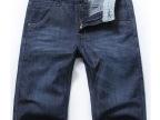 夏装韩版直筒牛仔五分裤男 时尚男士修身中裤男牛仔短裤 批发6720