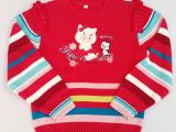 外贸大厂 秋冬新款童装 韩版全棉针织毛衣卡通女童装套头毛衣