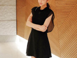 2015 春夏季女装 夏季韩国东大门雪纺连衣裙 夏季韩版无袖裙子
