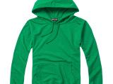 280克前袋卫衣-绿色 印制工衣韩版纯色文化衫 广告衫情侣服 班
