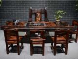 中山老船木家具机舱木茶桌带船舵茶台全国发货