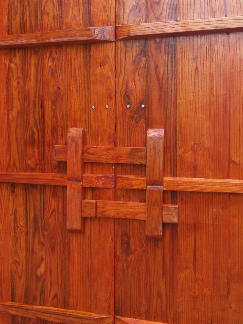 原木庭院大门 正品实木大门 别墅进户门 实木大门
