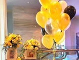 青岛飞屋气球派对 金色星空主题宴会装饰 生日宴气球