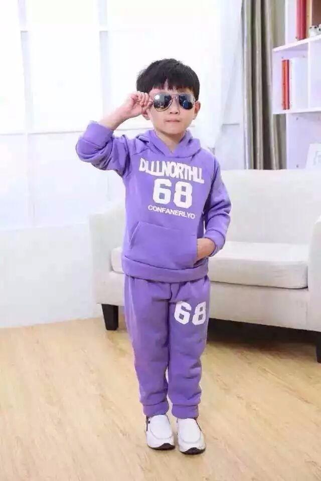 男女童春秋装套装2018新款儿童衣服运动连帽时髦两件
