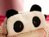 立体可爱熊猫笔袋 韩国韩版创意毛绒笔袋  大容量多功能