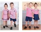2017韩版新款夏季儿童套装幼儿园宝宝套装定做