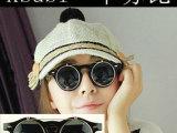 8008   Lady Gaga 蒸汽朋克 可上翻圆片眼镜 时尚个性潮人眼镜